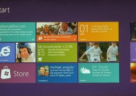 Home screen Windows 8