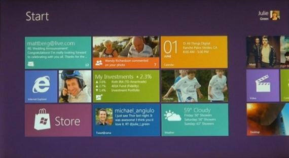 Home screen Windowsa 8