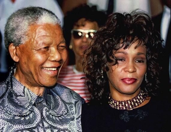 Vitni Hjuston i Nelson Mandela