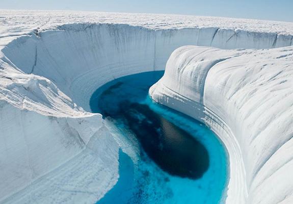 Mesta na Zemlji sa vanzemaljskim izgledom Ledeni-kanjon