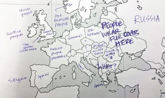 Kada Amerikanci Pogađaju Evropske Zemlje Na Karti Foto