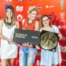 Uručenje nagrade najboljoj novinarki Demofesta, Milica Stojaković, Naida Kundurović i Mirna Pjetlović