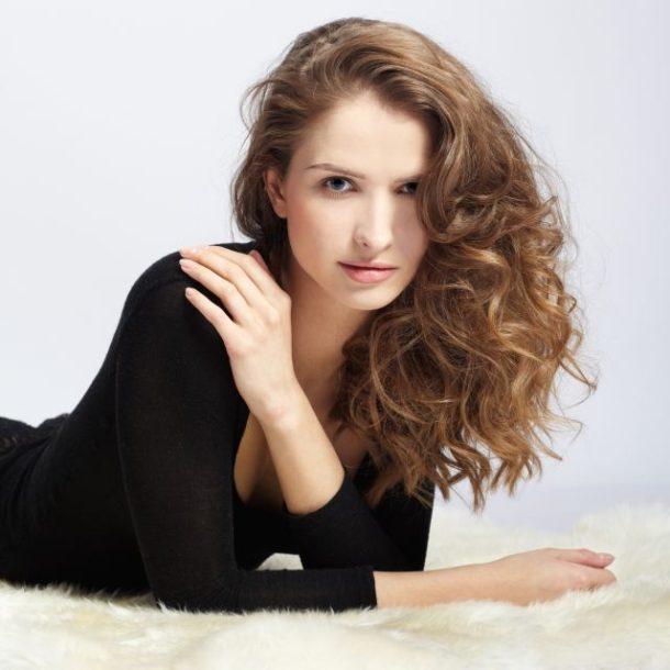 beautiful girl on furs