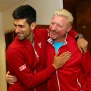 PARIS, FRANCE - JUNE 05:  Champion Novak Djokovic of Serbia clebrates with his coach, Boris Becker following his victory during the Men's Singles final match against Andy Murray of Great Britain on day fifteen of the 2016 French Open at Roland Garros on June 5, 2016 in Paris, France.  (Photo by Clive Brunskill for Adidas/Getty Images)