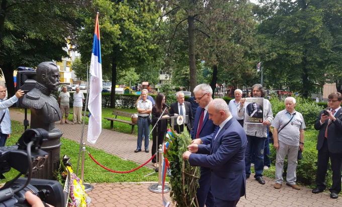 Banjaluka: Položeni vijenci na spomenik ruskom caru Nikolaju II (Foto)