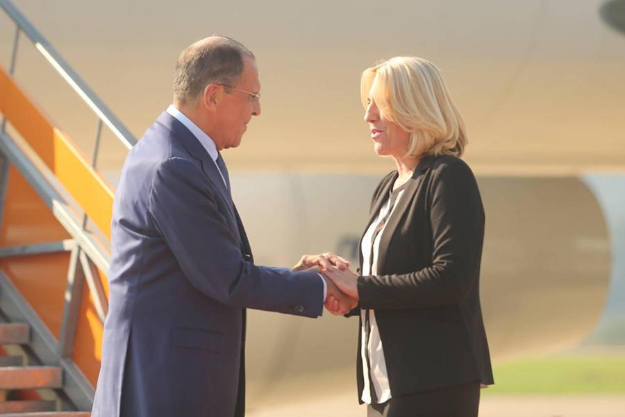 Lavrov u Banjaluci: Željka Cvijanović dočekala ministra spoljnih poslova Rusije (Foto/Video)